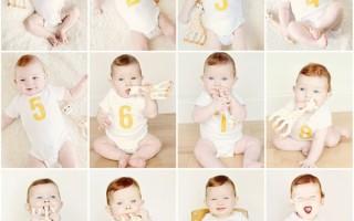 Таблица развития ребенка по месяцам до года