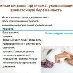 Признаки внематочной беременности на раннем сроке